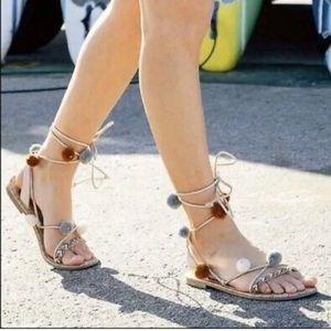 Sam Edelman circus Valencia lace up tie sandals 7
